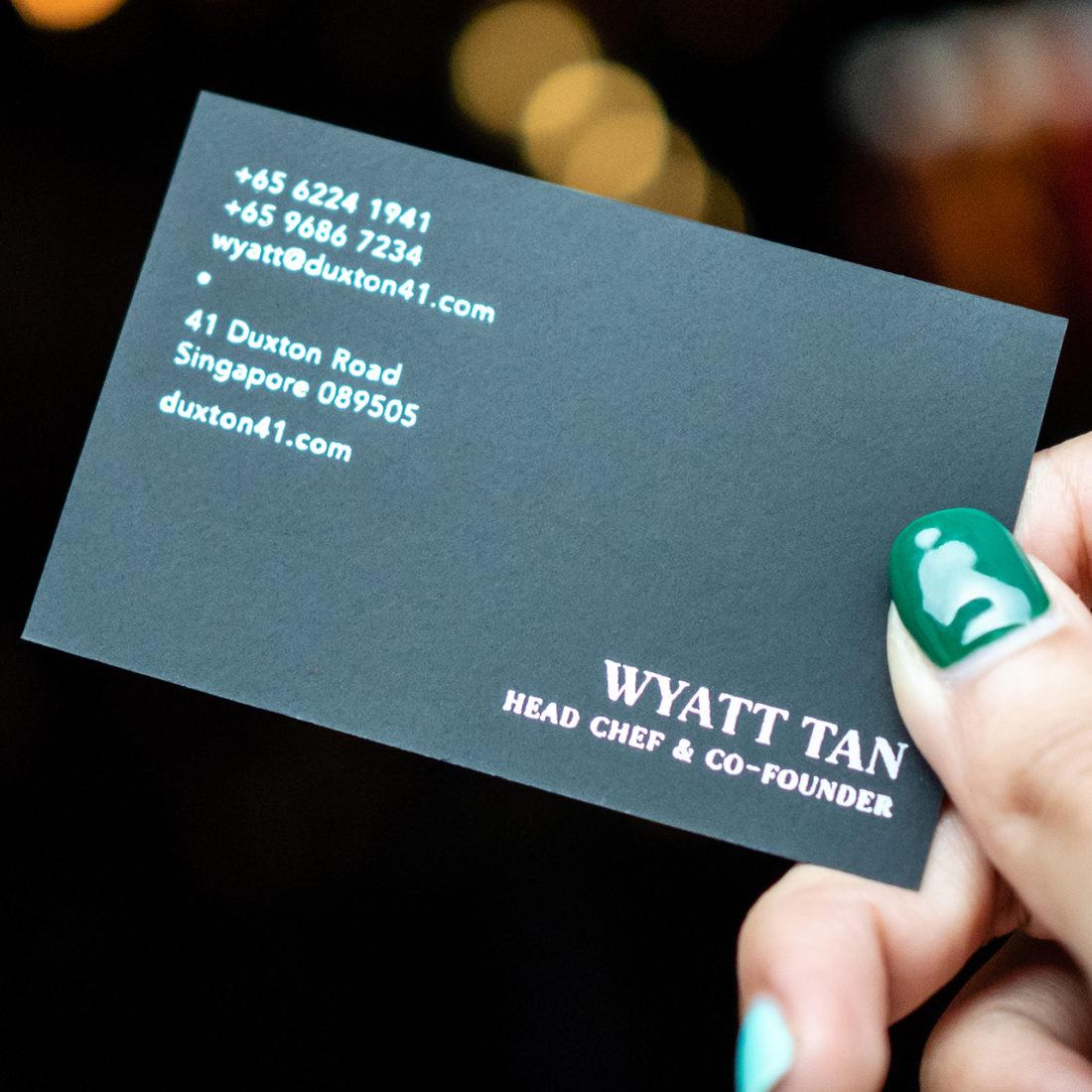 Duxton 41 namecard design printing