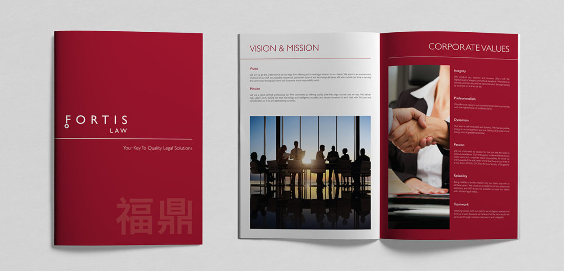 Fortis Law corporate brochure design