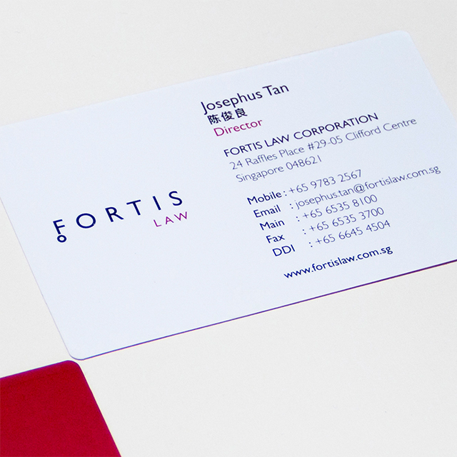 Fortis Law name card design