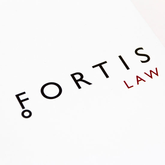 Fortis Law logo design