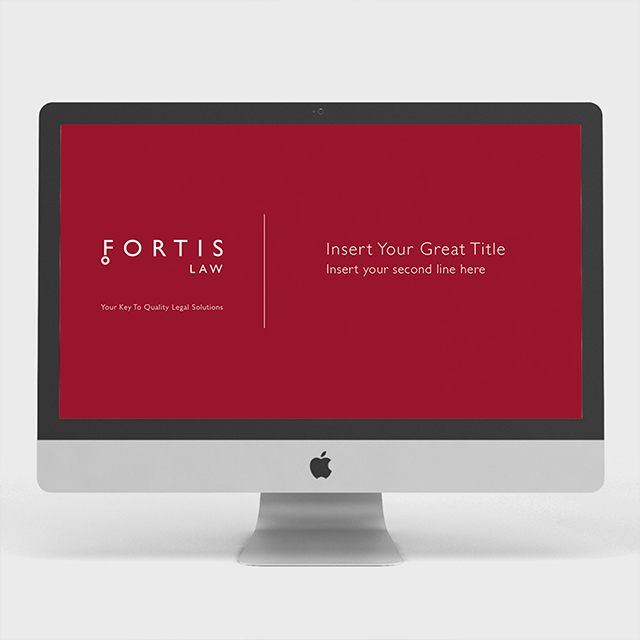 Fortis Law corporate ppt design