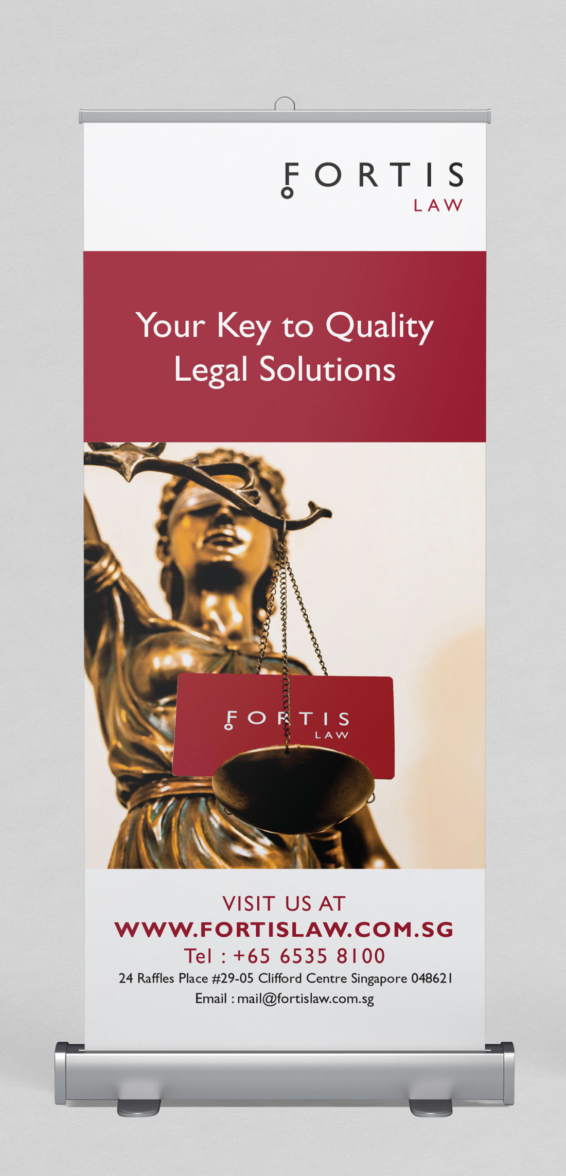 Fortis Law standee design