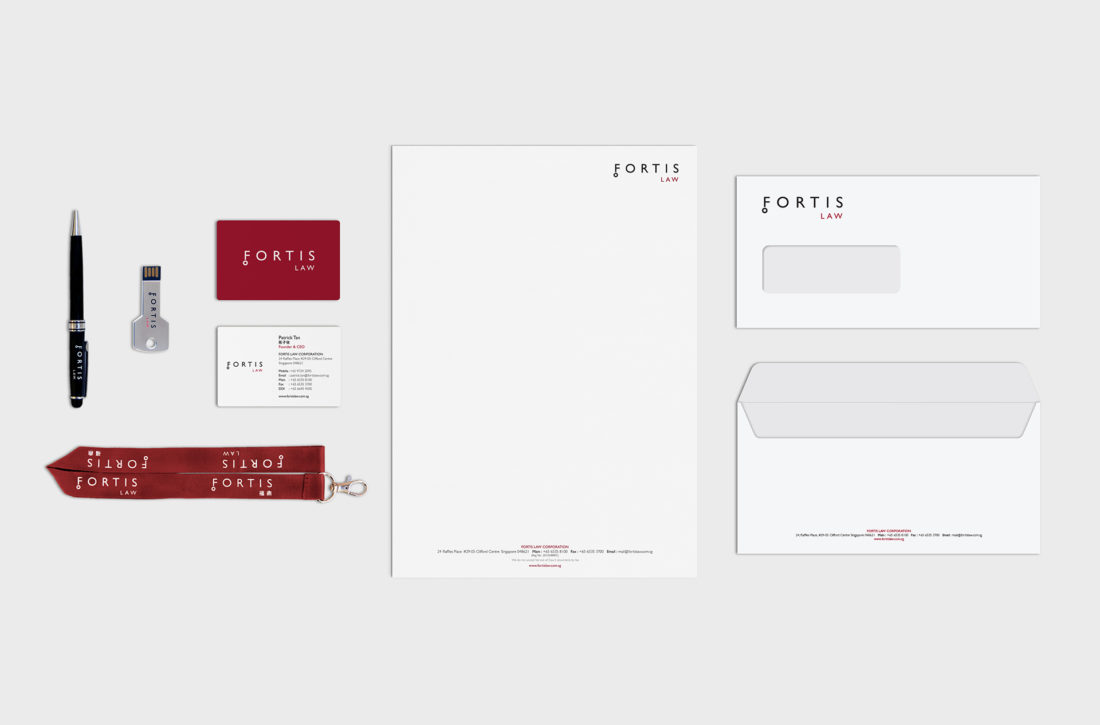 Fortis Law corporate stationery design
