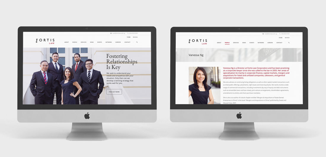 Fortis Law website design