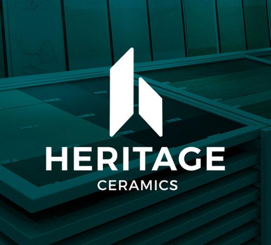 Heritage ceramics logo design