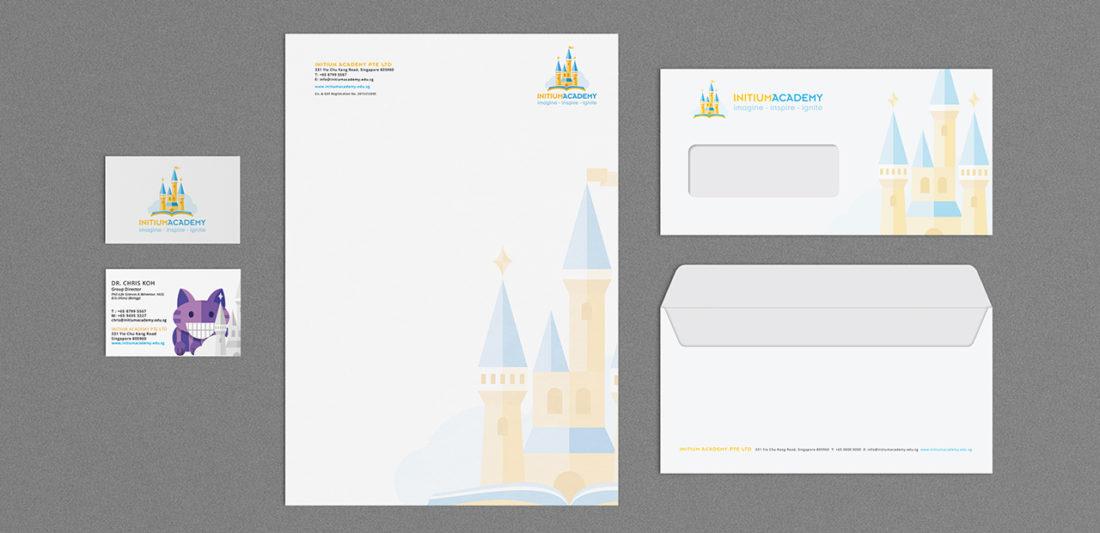 Initium corporate stationery design