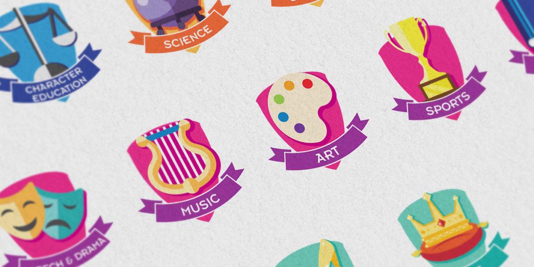 Initium academy icon design
