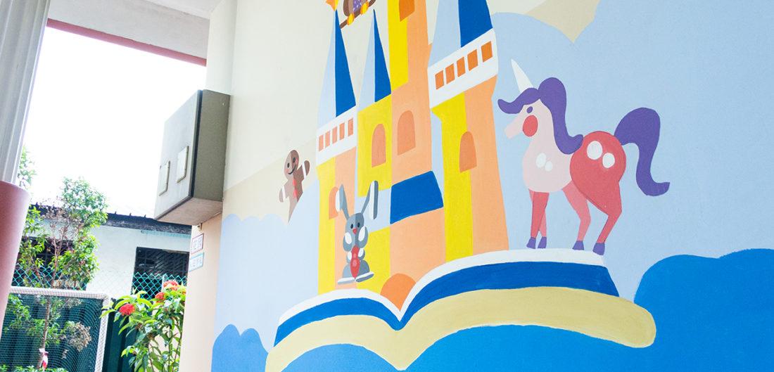 Initium wall Mural design