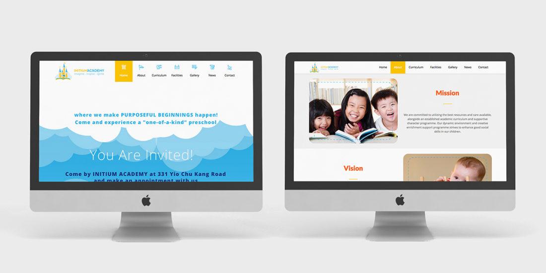 Initium Academy website design and development