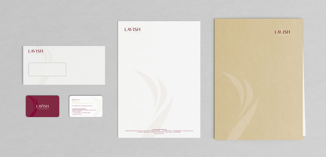 Lavish Corporate stationery design