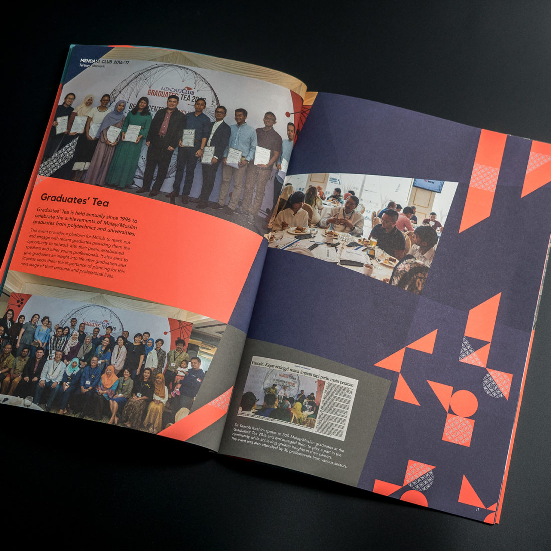 Mendaki Club year book collateral design