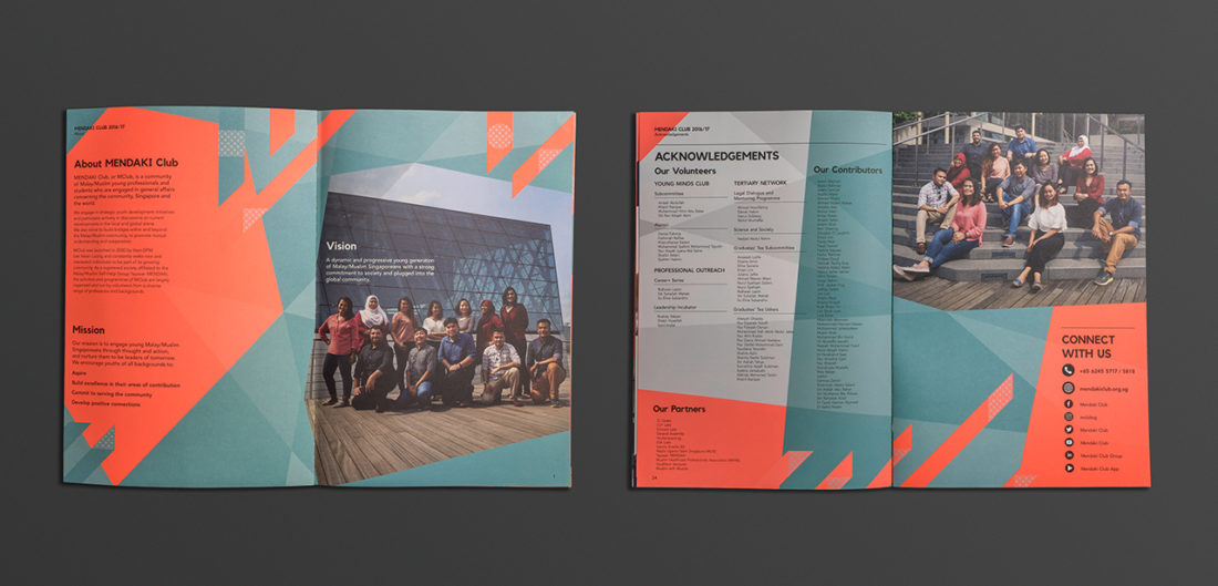 Mendaki Year book collateral design and printing
