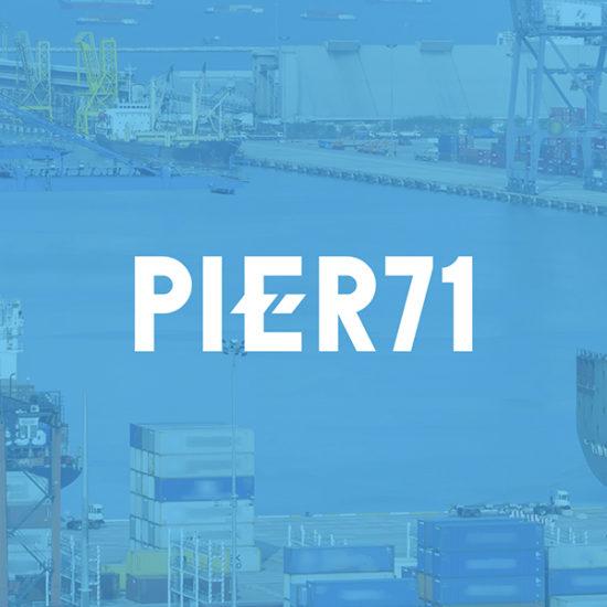 Pier71 logo design