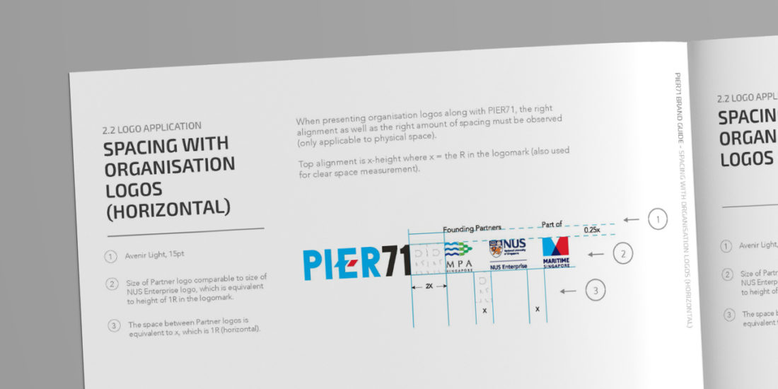 Pier 71 brand manual branding strategy