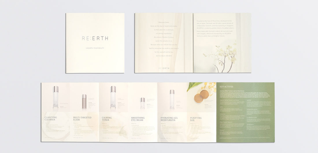 Re:erth collateral design and photography
