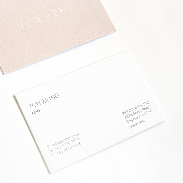 Re:erth corporate stationery design